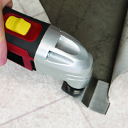 oscillating multi tool blade scraping